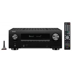Denon AVCX3700H Black 9.2ch 8K AV Amplifier with 3D Audio, HEOS Built-in and Voice Control