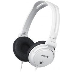 Sony MDR-V150W White DJ headphones with reversible earcups and 30mm driver unit