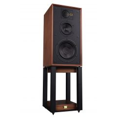 Wharfedale LINTON STANDS Mahogany Matching Speaker Stands For Wharfedale Linton Heritage Speakers